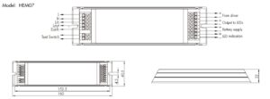Emergency Module Line Drawing