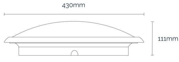Horizon LED Dimensions